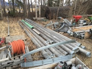 "8"" diameter Irrigation pipe. 14 Ea. at 30' long Call for pricing."